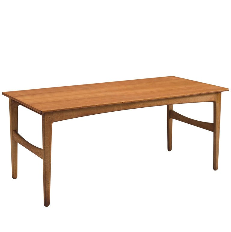 Teak And Oak Danish Dining Table