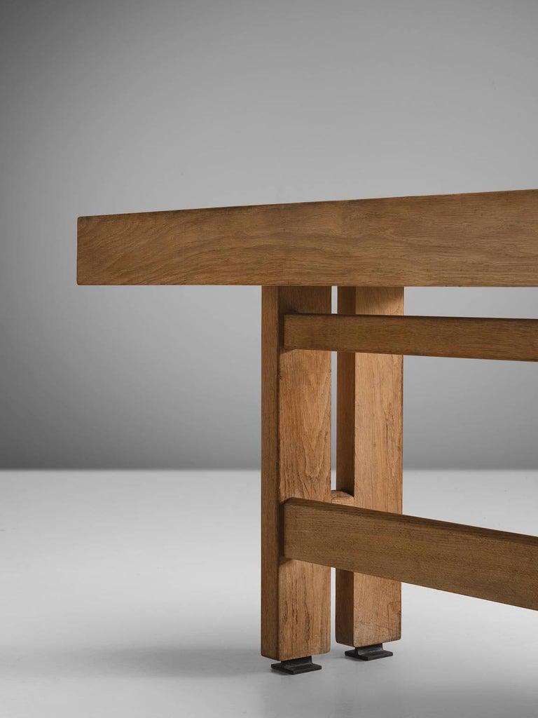 Guillerme & Chambron Corner Desk in Oak and Granite For Sale 3