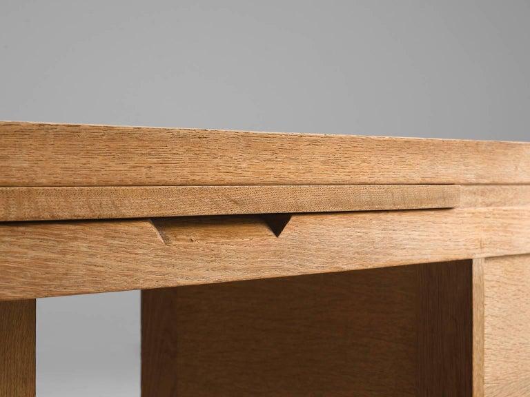 Guillerme & Chambron Corner Desk in Oak and Granite For Sale 2