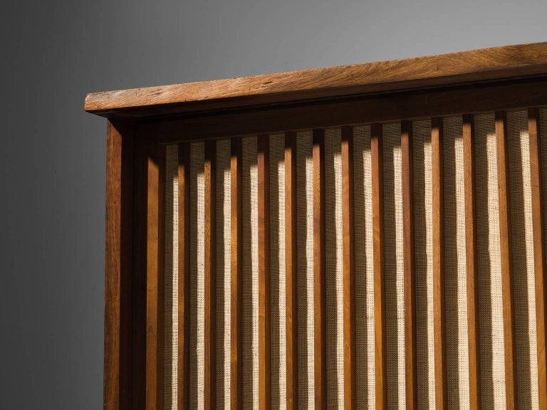 George Nakashima Cabinet with Walnut and Pandanus Cloth 8
