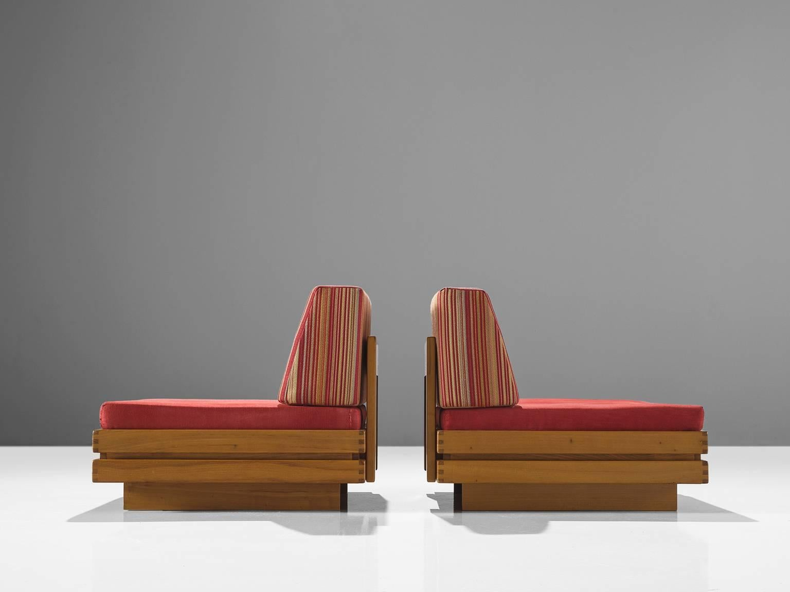 Late 20th Century French Set Of Two Modular Chairs For Sale