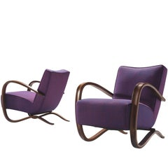 Customized Jindrich Halabala Set of Lounge Chairs