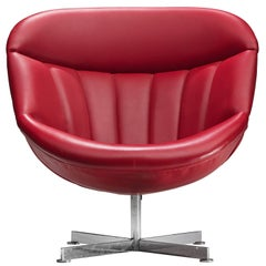 Rudolf Wolf for Rohe Red Lounge Chair