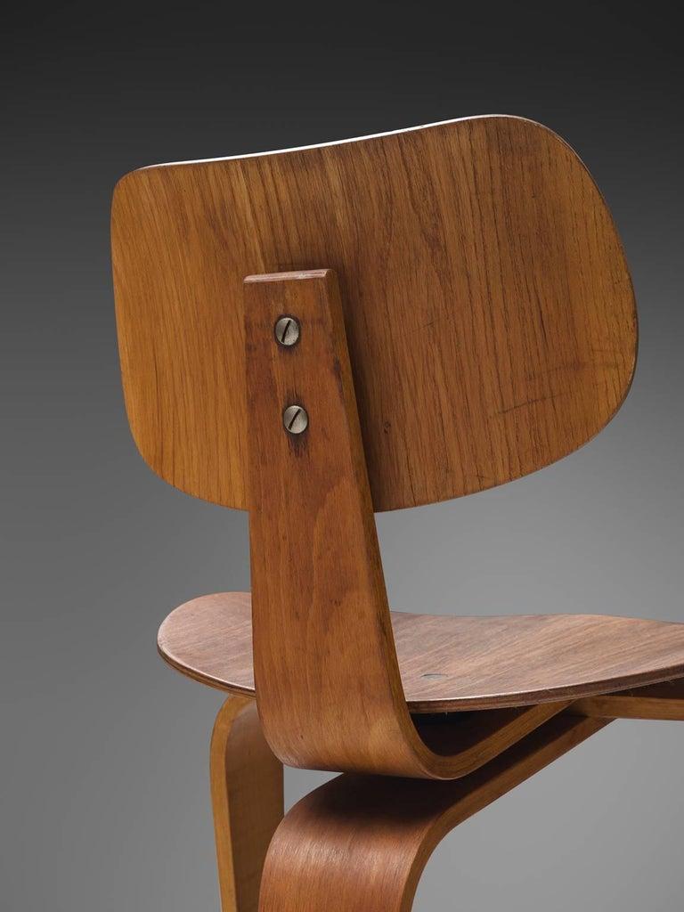 Beech Rare Egon Eiermann Pair of SE42 Plywood Chairs For Sale