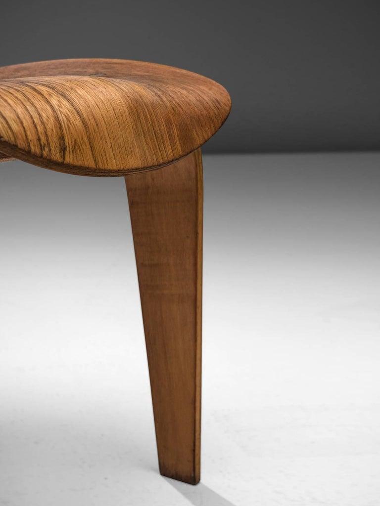 Rare Egon Eiermann Pair of SE42 Plywood Chairs For Sale 1