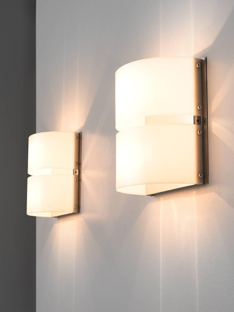 Pair of chromed minilumi wall lights for sale at 1stdibs pair of minilumi design wall sconces chrome perspex italy 1970s the aloadofball Images