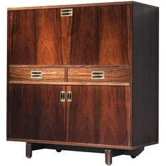 Italian Cabinet in Rosewood and Brass