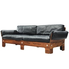 Norwegian Sofa in Rosewood and Leather