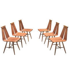 Risto Halme Set of Six Dining Chairs in Teak for Isku