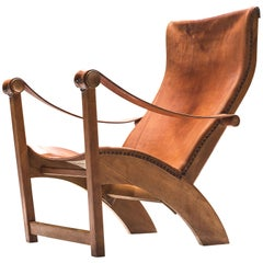 Mogens Voltelen for Niels Vodder Original Patinated 'Copenhagen Chair'
