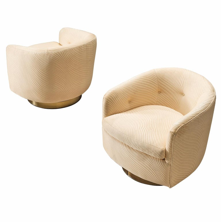 Milo Baughman Set of Two Swivel Chairs
