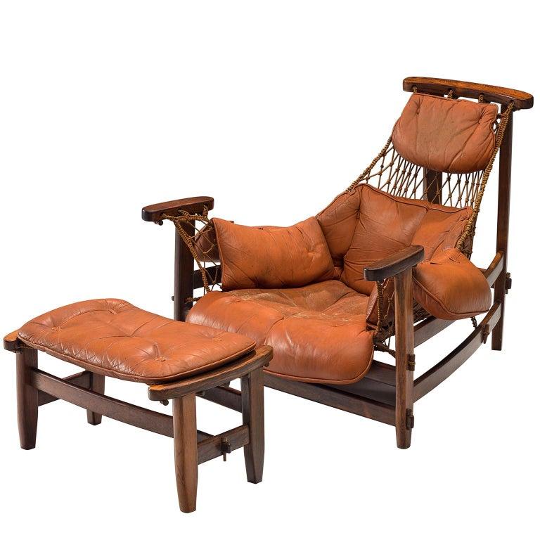 Jean Gillon 'Jangada' Brazilian Armchairs and Ottomans