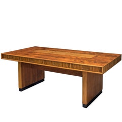 Tambour Desk with Rosewood and Walnut