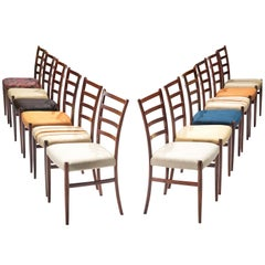 Set of 12 Danish Rosewood Dining Chairs