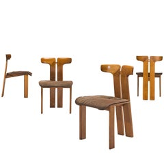 Pierre Cardin Set of Four Walnut Chairs