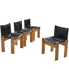 Afra & Tobia Scarpa Set of Four 'Monk' Chairs