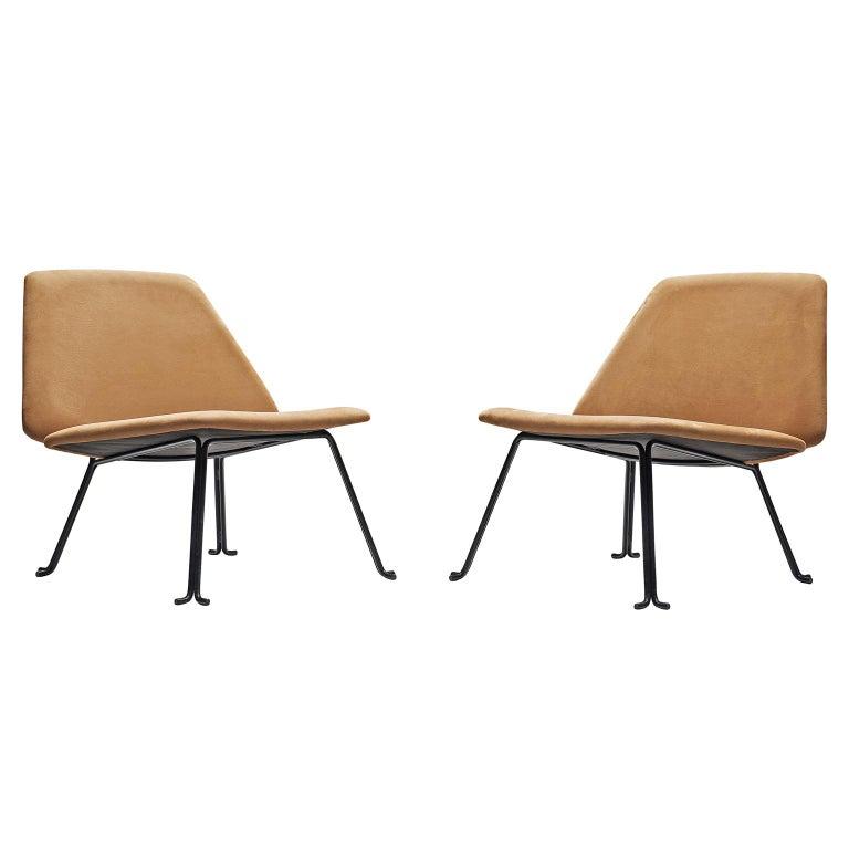 Pair of Italian Slipper Chairs, circa 1960