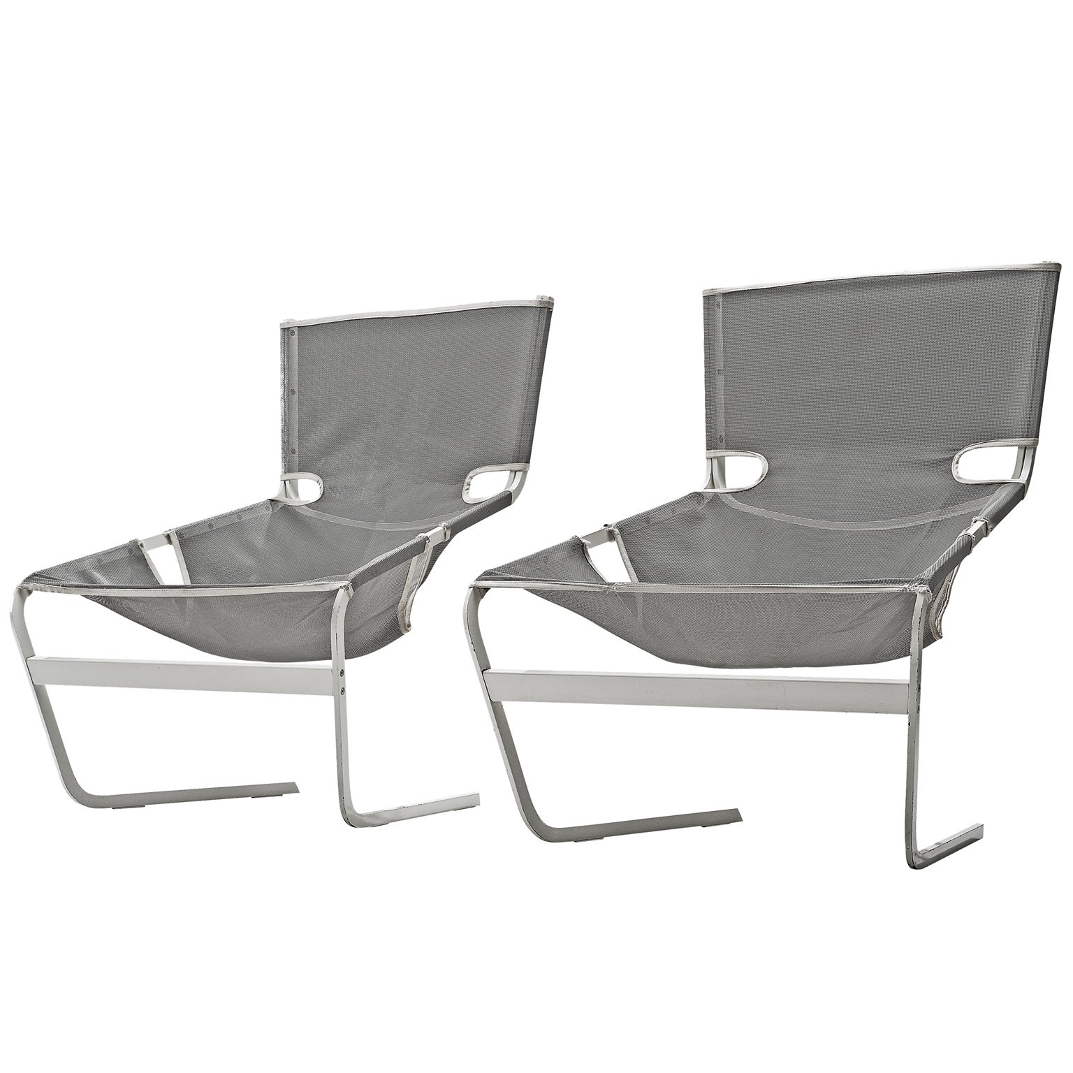 Pair of F-444 Lounge Chairs by Pierre Paulin for Artifort