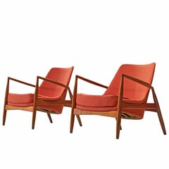 Ib Kofod-Larsen Red Seal Chairs in Teak