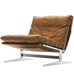 Fabricius & Kastholm Brown Leather Slipper Chair