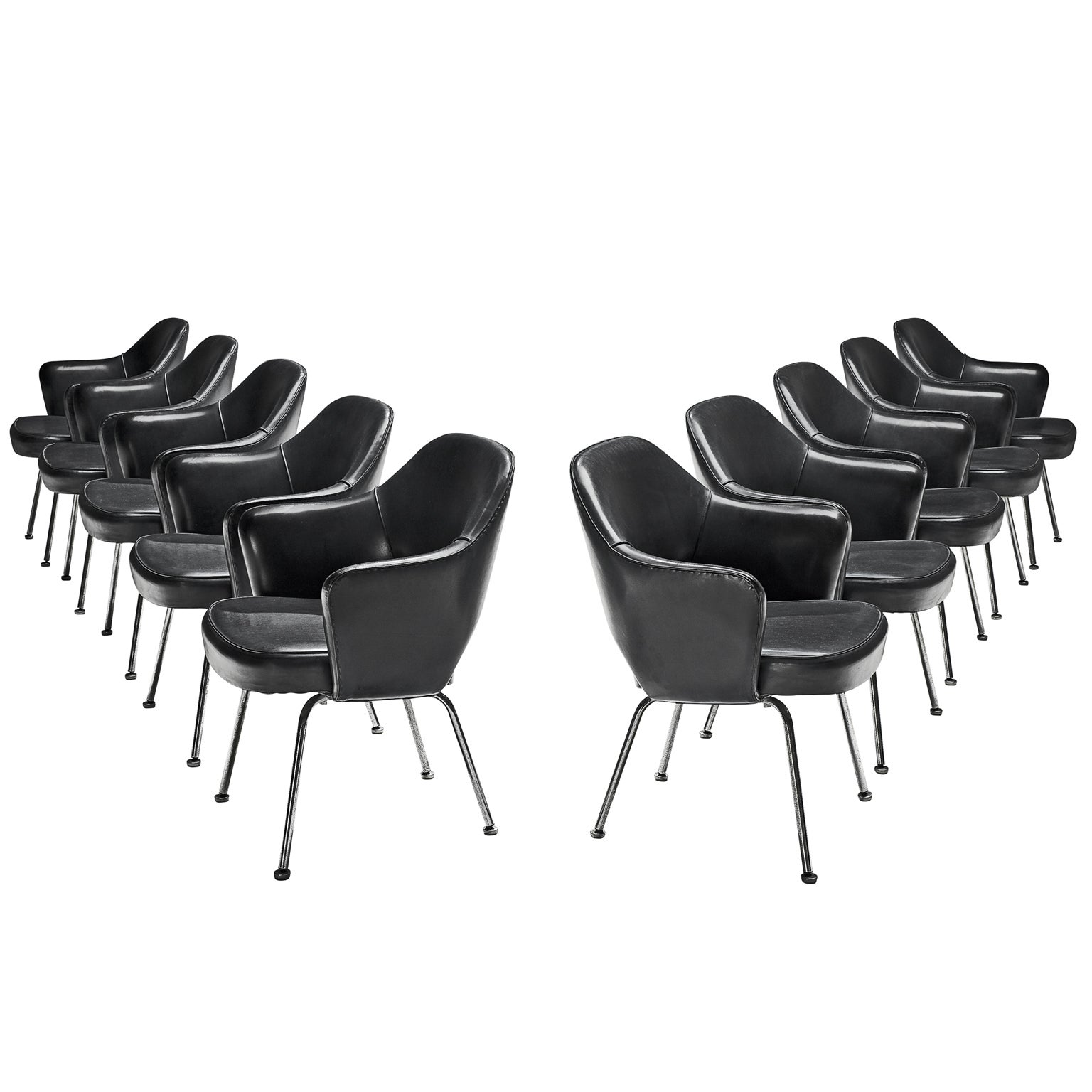 Eero Saarinen Set of Ten Chairs for Knoll International