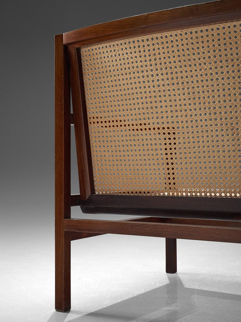 Joaquim Tenreiro Cane and Rosewood Armchair, circa 1958 In Excellent Condition For Sale In Waalwijk, NL