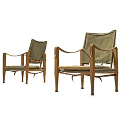 Pair of Danish Safari Chairs