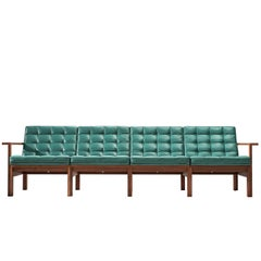 Knudsen and Lind Moduline Sofa in Turquoise Leather for France & Søn