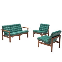 Knudsen & Lind Moduline Living Room Set in Leather