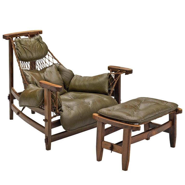 Jean Gillon Jangada Lounge Chair with Ottoman For Sale