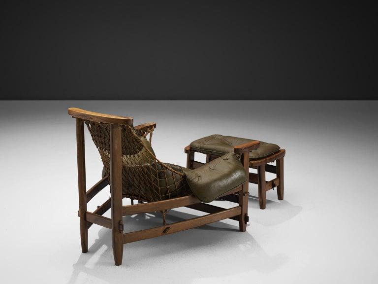 Mid-Century Modern Jean Gillon Jangada Lounge Chair with Ottoman For Sale