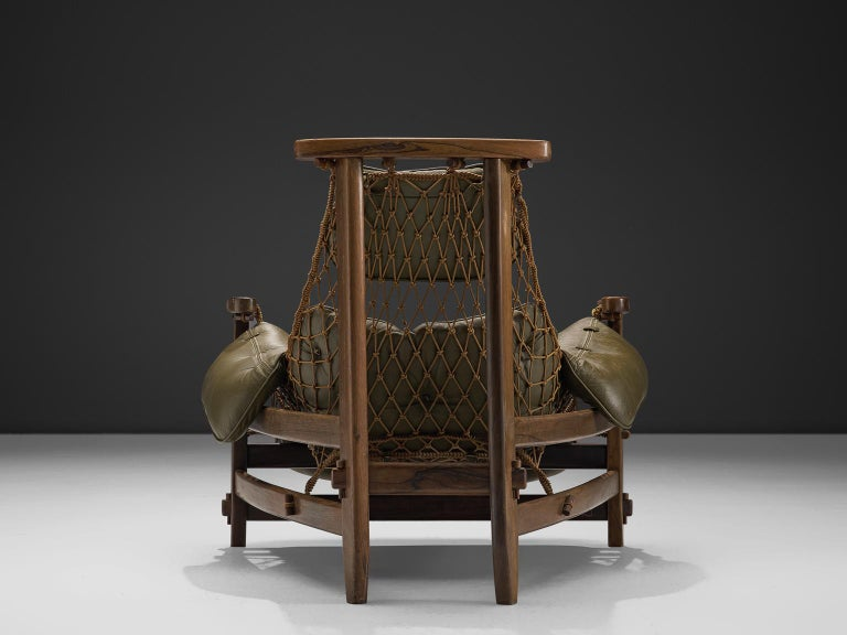 Mid-20th Century Jean Gillon Jangada Lounge Chair with Ottoman For Sale