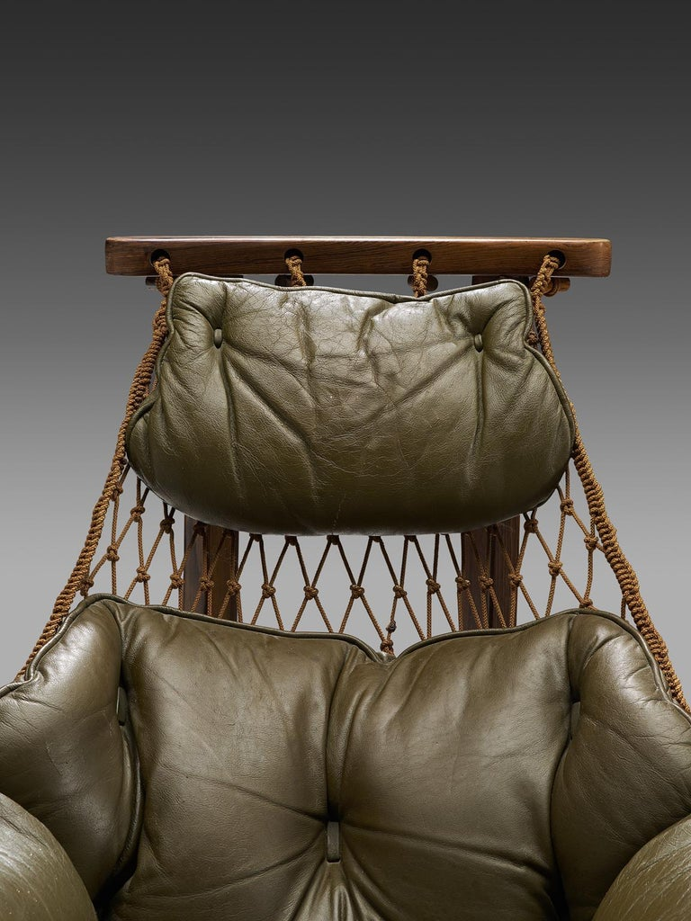 Jean Gillon Jangada Lounge Chair with Ottoman For Sale 1