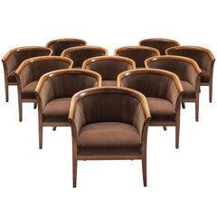 Set of 12 French Club Chairs