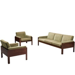 Minimalist Scandinavian Set in Rosewood and Green Fabric