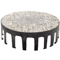 Handmade Pia Manu Coffee Table in Travertine