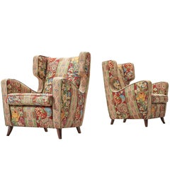 Melchiorre Bega Attributed Pair of Lounge Chairs, 1940s