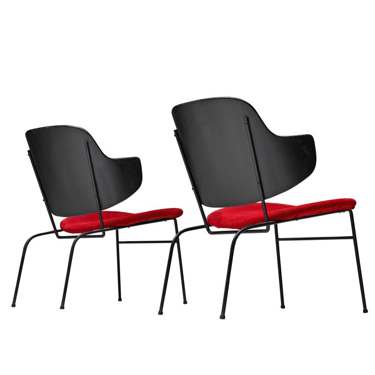 Ib Kofod-Larsen Pair of Penguin Easy Chairs