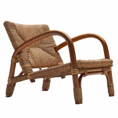 Lounge Chair in Cane and Beech