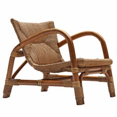 Dutch Lounge Chair in Cane and Beech