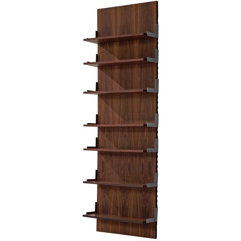 Rosewood and Aluminum Bookcase