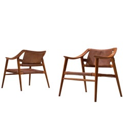 Rolf Rastad & Adolf Relling Pair of 'Bambi' Armchairs