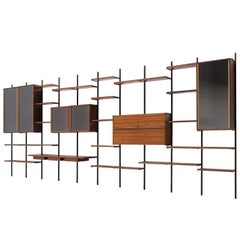 Osvaldo Borsani Large Wall Unit in Rosewood