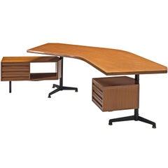 Osvaldo Borsani Wooden 'Boomerang' Desk