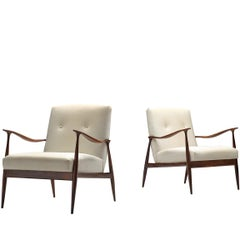 Giuseppe Scapinelli Pair of Sculptural Lounge Chairs