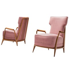Giuseppe Scapinelli Pair of High Back Chairs