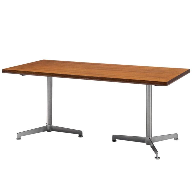 Osvaldo Borsani Table in Rosewood and Metal