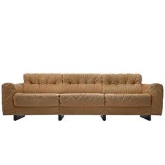 De Sede Three-Seat Sofa in Cognac Leather