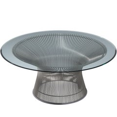 Warren Platner for Knoll Coffee Table with Glass