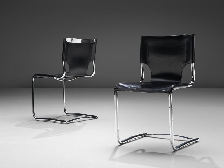 Claudio Bartoli Set of Four Dining Chairs In Good Condition For Sale In Waalwijk, NL
